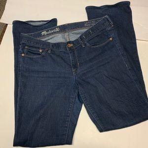 Madewell Dark Wash Bootlegger Jeans